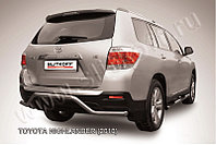 """Защита заднего бампера d57 """"волна"""" Toyota Highlander 2011-13"""