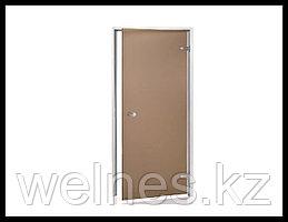 Дверь для хамама Andres AU 7х19 Bronze (короб - алюминий, стекло - бронза, без порога)