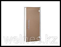 Дверь для хамама Andres LUX 7х19 Bronze (короб - алюминий, стекло - бронза, без порога)