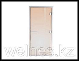 Дверь для паровой комнаты Steam Bronze 7х19 (короб - алюминий, стекло - бронза, с порогом)