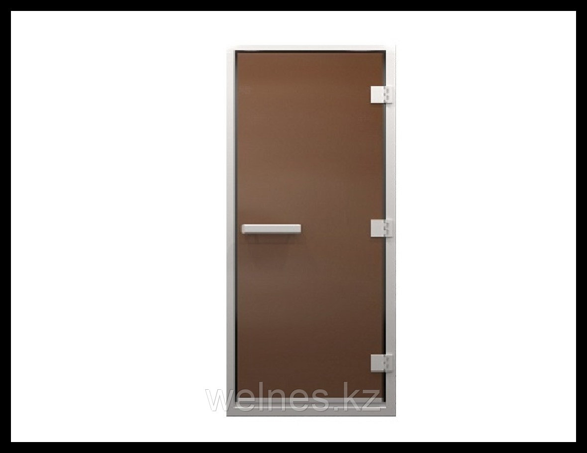Дверь для паровой комнаты Steam Matted 7х19 (короб - алюминий, стекло - матовое, с порогом)