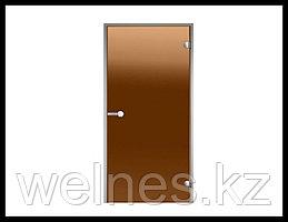 Дверь для паровой комнаты Harvia STG 7х19 (короб - алюминий, стекло - бронза, без порога)