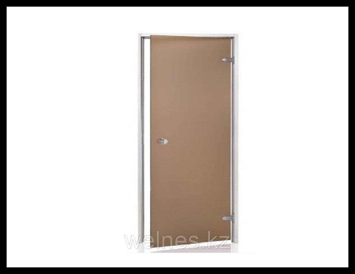 Дверь для паровой комнаты Andres AU 7х19 Bronze (короб - алюминий, стекло - бронза, без порога)