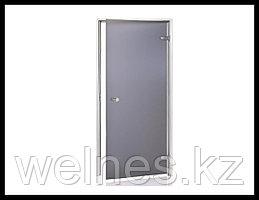 Дверь для паровой комнаты Andres AU 7х19 Grey Matted (короб - алюминий, стекло - матовое, без порога)