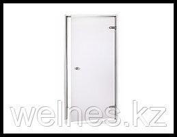 Дверь для паровой комнаты Andres AU 7х19 Grey (короб - алюминий, стекло - серое, без порога)