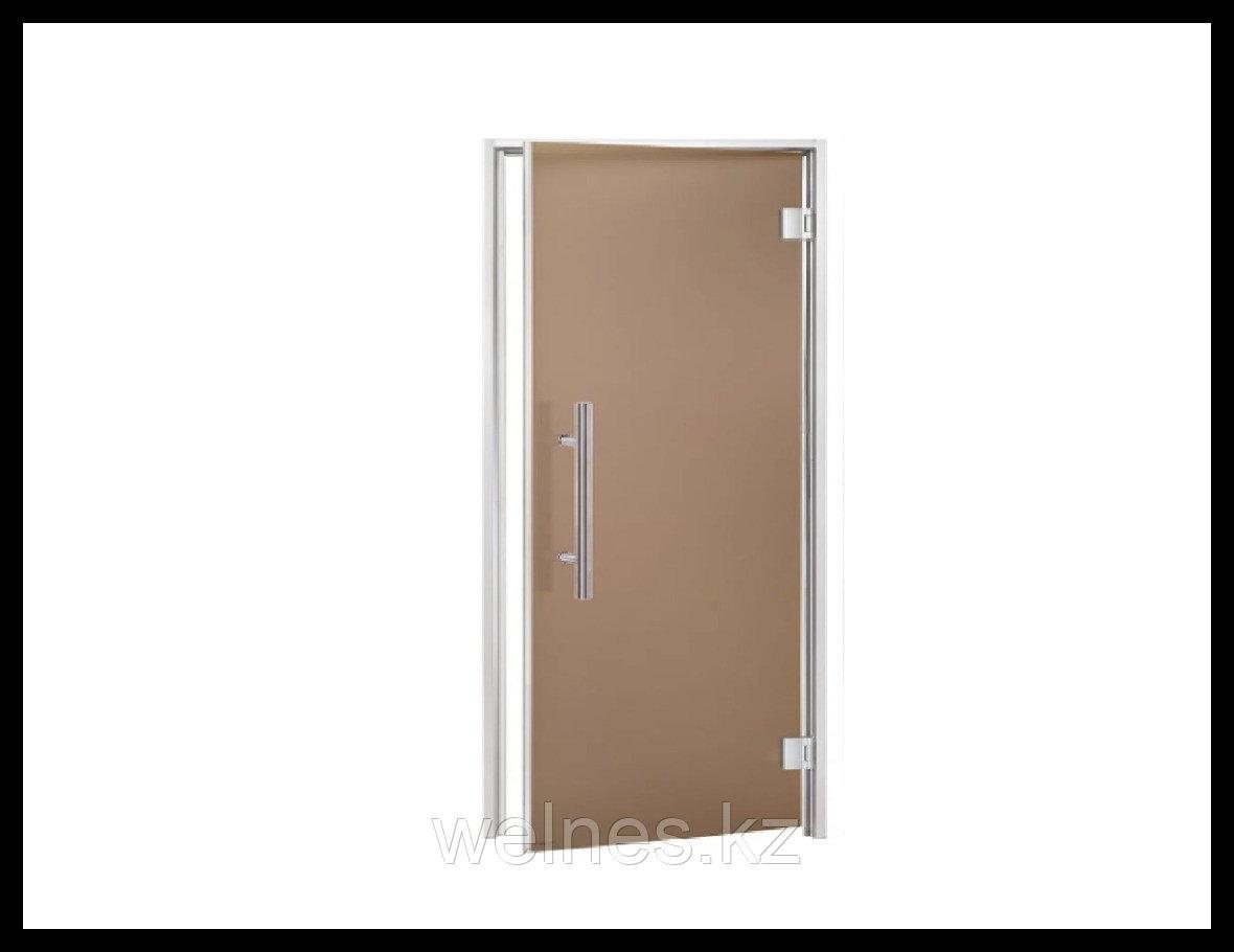 Дверь для паровой комнаты Andres LUX 7х19 Bronze (короб - алюминий, стекло - бронза, без порога)