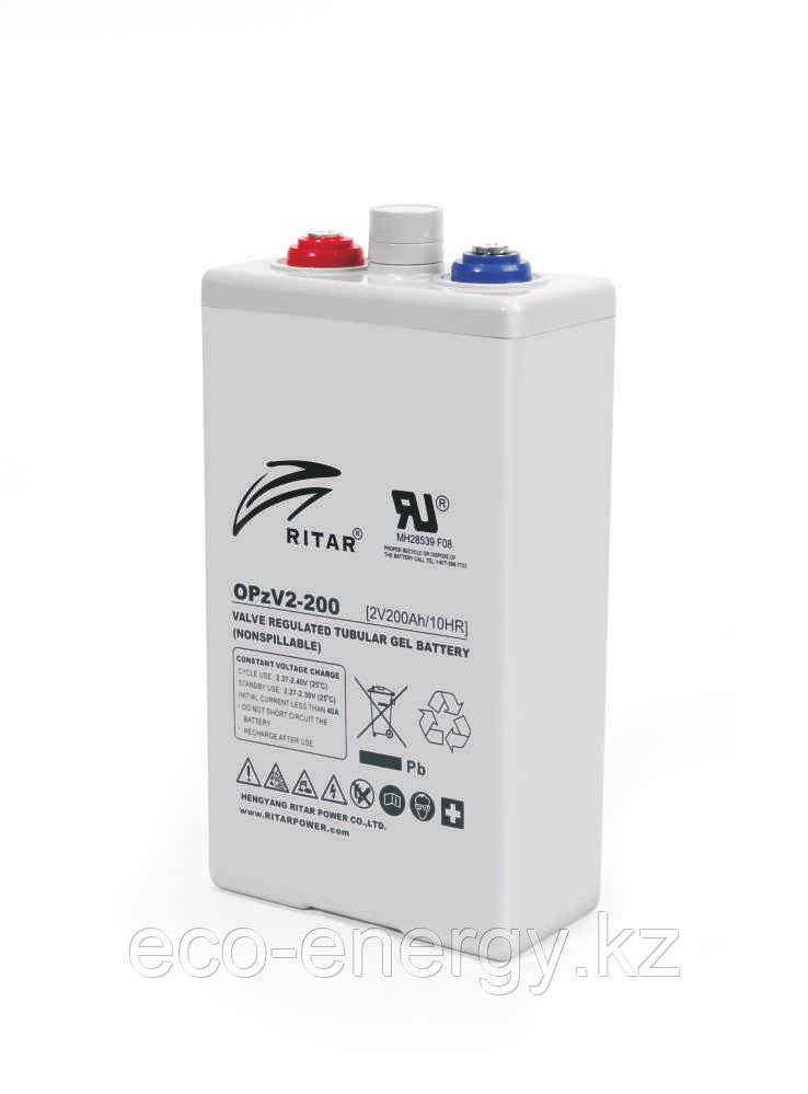 Ritar OPzV2-200 аккумулятор (GEL). 200 А/ч 2 Вольта