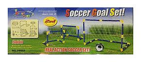 Детские футбольные ворота разборные с сеткой 2в1, фото 3