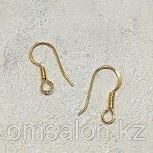 Швензы из серебра, покрытые золотом, открытые, 15х8мм