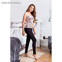 Легинсы женские, цвет чёрный, размер 46