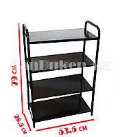 Этажерка для обуви 4 полки металлическая, высота 80 см