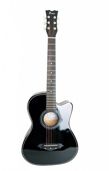 Акустическая гитара  Foix FFG-1038BK , черная, с вырезом