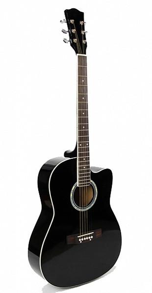 Акустическая гитара Foix FFG-1039BK, черная, с вырезом