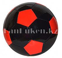 Футбольный мяч черно-красный