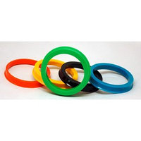Пластиковое центровочное кольцо ВЕКТОР 74,1-64,1, цвет МИКС (комплект из 4 шт.)
