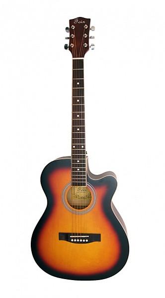 Акустическая гитара Foix FFG-1040SB, санберст, с вырезом