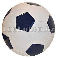 Футбольный мяч темно-синий с белым