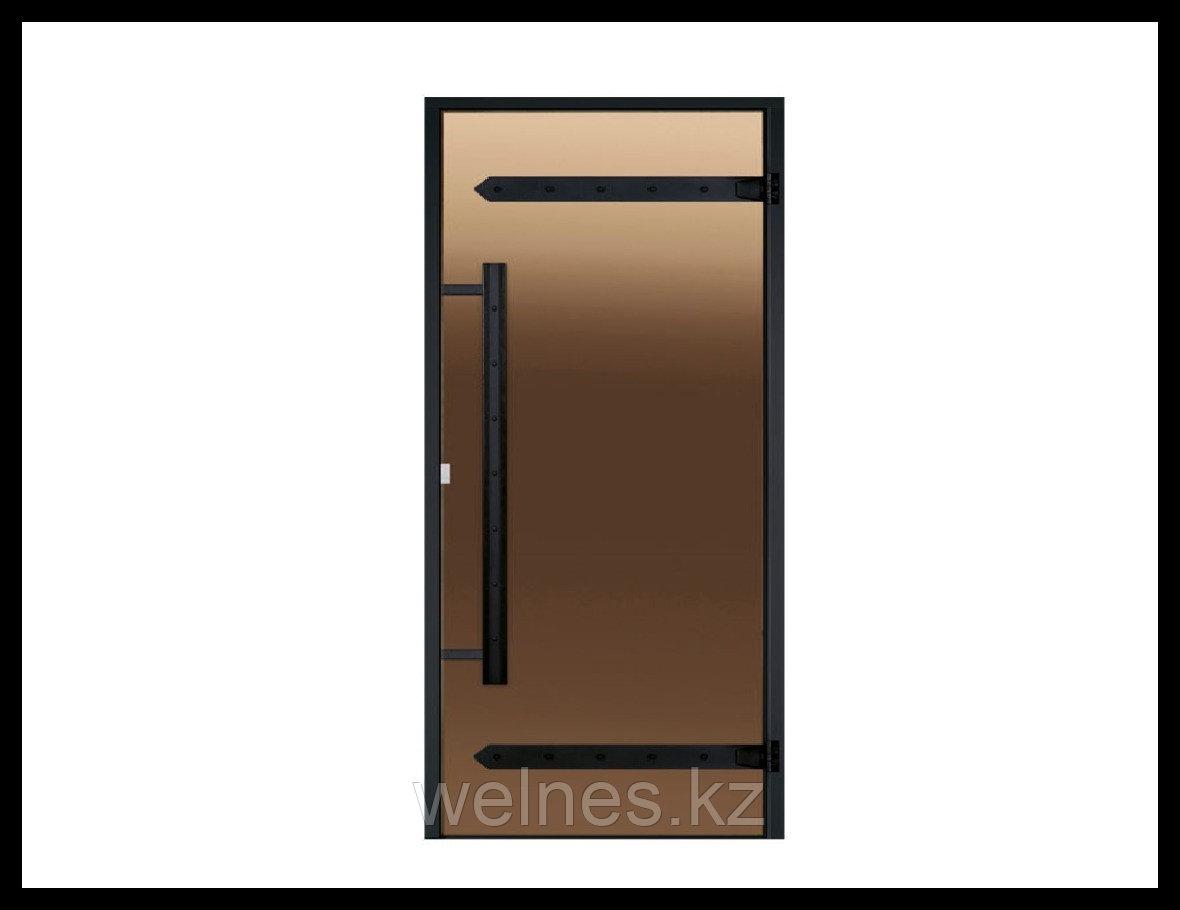 Дверь для сауны Harvia STG LEGEND (короб - сосна, стекло - бронза, ручка - магнит)