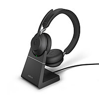 Беспроводная гарнитура Jabra Evolve2 65, Link380c UC Stereo Desk Stand Black (26599-989-889), фото 1