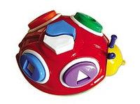 Логическая игрушка-каталка (на шнурке) Божья коровка (И-0197)
