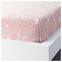 ЙЭТТЕВАЛЛМО Простыня, белый, розовый, фото 1