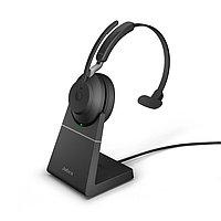 Беспроводная гарнитура Jabra Evolve2 65, Link380c UC Mono Desk Stand Black (26599-889-889), фото 1
