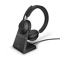 Беспроводная гарнитура Jabra Evolve2 65, Link380a MS Stereo Desk Stand Black (26599-999-989), фото 1