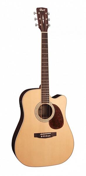 Электро-акустическая гитара с вырезом Cort MR720F-NS MR Series, цвет натуральный
