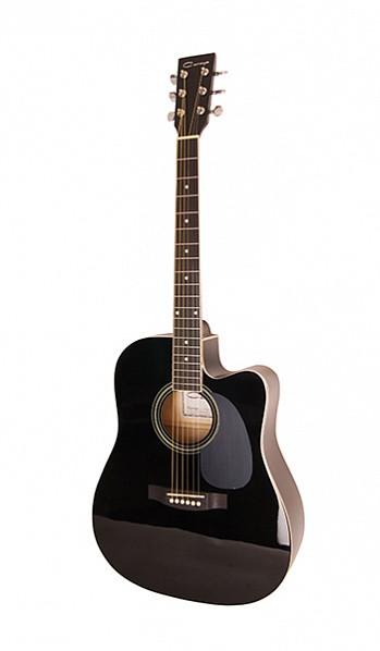 Акустическая гитара Caraya F601-BK, с вырезом, черная