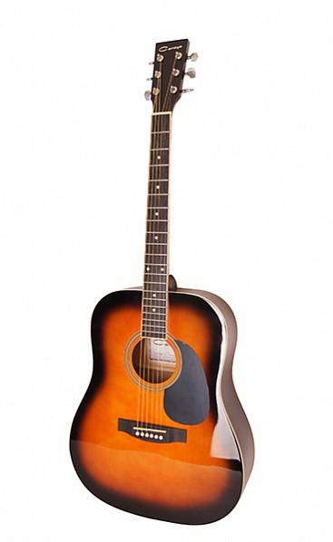 Акустическая гитара, санберст, Caraya F600-BS