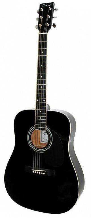 Акустическая гитара, черная, Caraya F600-BK