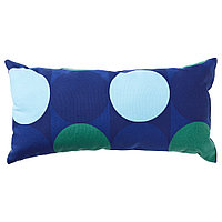 КРОКУСЛИЛЬЯ Подушка, синий, зеленый, фото 1