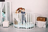 Детская кроватка Incanto Gio DeLuxe 8 в 1 Белый с маятником, фото 1