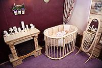 Детская кроватка Incanto Gio DeLuxe 8 в 1 Слоновая кость с маятником, фото 1