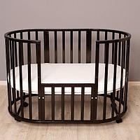 Детская кроватка Incanto Северная Звезда 9 в 1 с маятником венге, фото 1