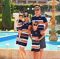 Футболка и платье для всей семьи.