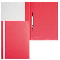 Папка-скоросшиватель пластик. верх прозр Хатбер красная