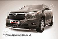 Защита переднего бампера d76 радиусная Toyota Highlander 2014-17