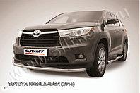 Защита переднего бампера d57 Toyota Highlander 2014-17