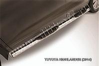 Защита порогов d76 с проступями Toyota Highlander 2014-17