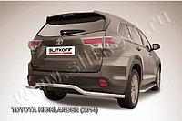 """Защита заднего бампера d57 """"волна"""" длинная Toyota Highlander 2014-17"""