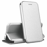 Кожаный книжка-чехол Open case для LG X-POWER (серый)