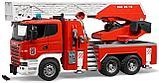 Радиоуправляемая пожарная машина 1/20 с водяной помпой, фото 6