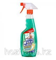 Средство для мытья стекол Мистер Мускул с нашатырным спиртом, 750 мл, с курком