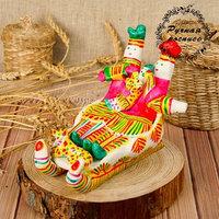 Филимоновская игрушка 'Парочка на санях'
