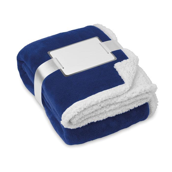Флисовое двустороннее одеяло-плед