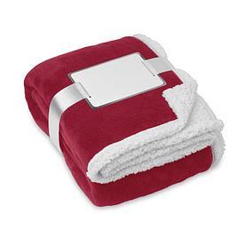 Флисовое двустороннее одеяло-плед Красный