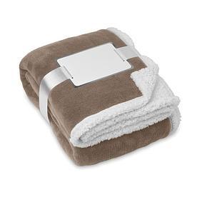 Флисовое двустороннее одеяло-плед Коричневый