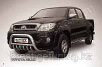 Кенгурятник d76 низкий с защитой картера Toyota Hilux 2005-11