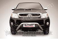 """Кенгурятник d76 низкий широкий """"мини"""" Toyota Hilux 2005-11"""